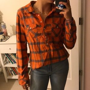 Half button flannel